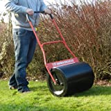 FOX 65 Litre Steel Garden Lawn Roller Heavy Duty 100% Steel 500mm Working Width with Comfort Soft Grip and Scraper Bar - Fill With Water / Sand / Cement