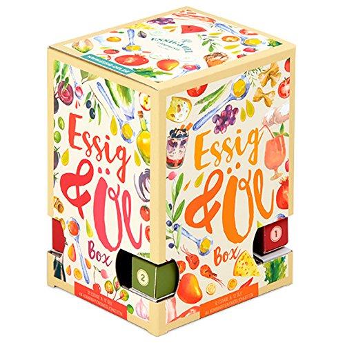 """Premium Essig-Öl Adventskalender""""Bella Italia""""- 24 verschiedene aromatische Geschmackserlebnisse aus Italien - in Glas-Fläschchen á 25ml"""