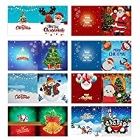 Prosperveil 8 Pack Handmade Greeting Cards DIY Special Shaped Diamond Painting Christmas Cards Kit with Blank Envelopes for Christmas Birthday Kids Crafts Gift (Style C)