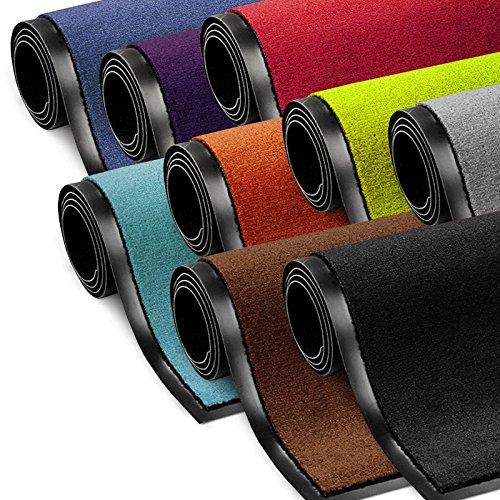 Schmutzfangmatte ColorLine   viele Größen und Farben zur Auswahl   Fußmatte für Innenbereich   Mono Color Braun 60x90 cm