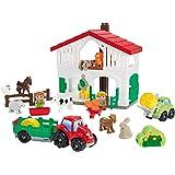 Jouets Ecoiffier -3021 - La ferme Abrick – Jeu de construction pour enfants – Dès 18 mois – Fabriqué en France