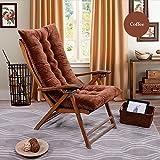Respaldo alto Chaise Lounge cojín antideslizante mecedora cojín al aire libre colchón HL 120* 50N para tumbona de jardín reclinable interior Veranda