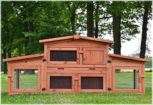 Zooprimus Kaninchenstall 47 Hasenkäfig – KÖNIGSSTALL – Stall für Außenbereich (für Kleintiere: Hasen, Kaninchen, Meerschweinchen usw.) - 2