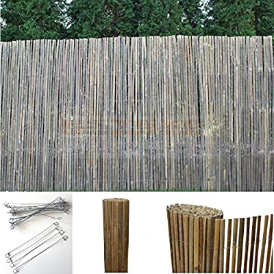 Bambus Sichtschutzmatte Windschutz Bambusmatte Sichtschutz Garten-Zaun Natur von Estexo GmbH - Du und dein Garten