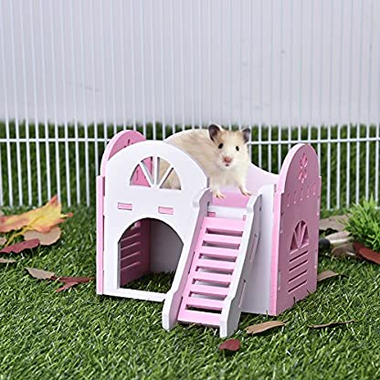 Pet House Hamster Bear Syrian Double-Deck Sea Villa Small For All Year Round Animal Hideout Deluxe Two Layers Eco… 1