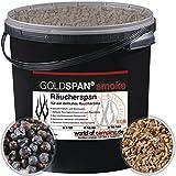 GOLDSPAN smoke B 10/40 Räucherspäne Räuchern Buche Räucherholz Smoking 5kg inkl. Abfüllschaufel und Wacholder Beeren