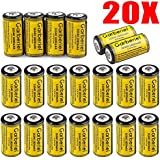 FlashDealer FlashDealer Lithium CR123A Battery Rechargeable Battery Cell Battery For Flashlight