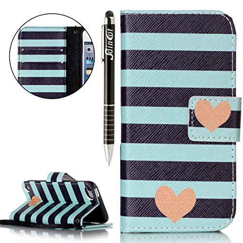 iPod Touch 5 Hülle,iPod Touch 6 Hülle, iPod Touch 5G/6G Hülle Ledertasche Brieftasche im BookStyle, SainCat PU Leder Wallet Case Folio Schutzhülle Muster Hülle Bumper Handytasche Skin Schale Soft Backcover - Kinder-ipod Fällen 5