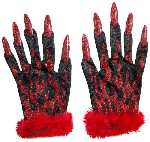 Widmann 8561D - Teufelshandschuhe mit (Teufel Kostüm Das Ideen)
