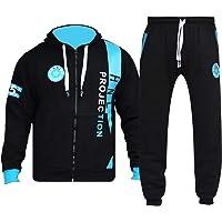 GUBA® Mens Tracksuit Joggers Sweatshirt Hoodie HNL Design Jog Pants Cuffed Trousers Set