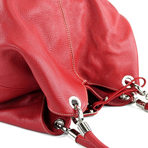 Made Italy , Sac à main pour femme Rouge - Rouge