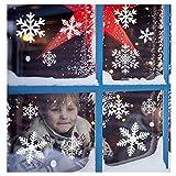 116 Pegatinas Decorativas de Copo de Nieve para Adorno Navideño – Accesorio de Decoración para Navidad – Articulo de Apoyo para Decorado de Festividad – Regalo y Ornamento Festivo para Ventanas