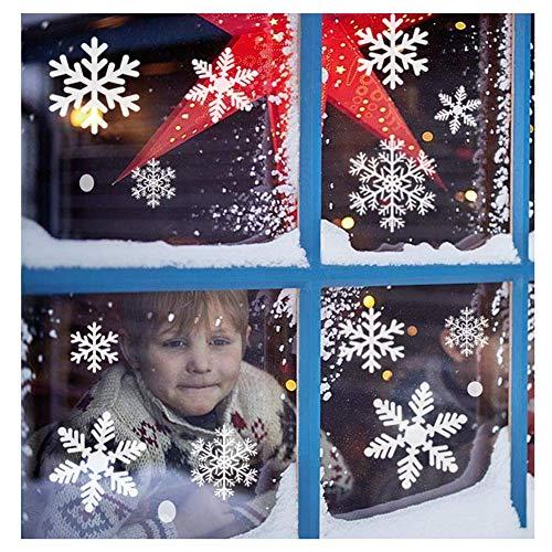 fensterbilder schneeflocken 116 Schneeflocken Fensterbild Abnehmbare Fensterdeko Statisch Haftende PVC Aufkleber Winter Dekoration-Fensteraufkleber/Fensterbilder / Fensterdeko Set