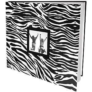 multicraft patterned post bound album 12 x12 zebra k che haushalt. Black Bedroom Furniture Sets. Home Design Ideas