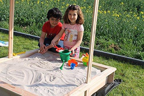 Sandkastenvlies Schutzvlies (Schwarz, 2 m x 2 m)