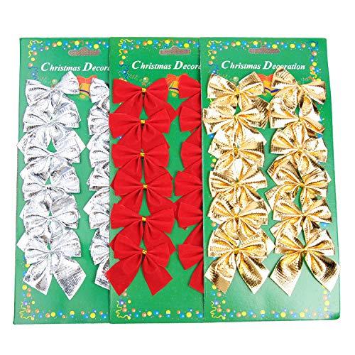 SHISI - Juego 36 Lazos árbol Navidad 5 cm, Color