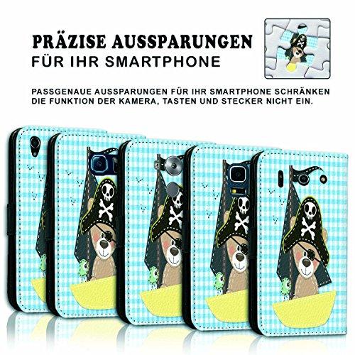 Wallet Book Style Flip Handy Tasche Case Schutz Hülle Schale Motiv Etui für Apple iPhone 6 / 6S - Variante UMV19 Design12 Design 6