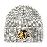 NHL Chicago Blackhawks Brain Freeze '47 Cuff Knit grau Mütze Wollmütze