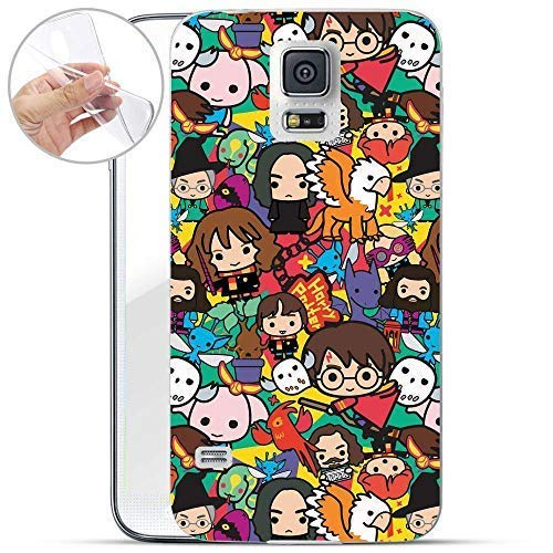 Finoo Hülle für Samsung Galaxy S5 Neo - Handyhülle mit Motiv und Optimalen Schutz TPU Silikon Tasche Case Cover Schutzhülle - Harry Potter Buntes Muster (Potter Phone Harry Case S5 Galaxy)
