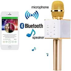 Rextan Karaoke Portable Handheld Wireless Mic Compatible with iOS and Android Smartphones