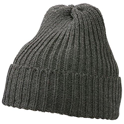 MYRTLE BEACH - Bonnet tricot doublé Thinsulate - MB7937 - mixte homme / femme gris foncé melange
