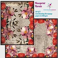 Nakshathra Designz Newsprint Florals Decoupage Paper