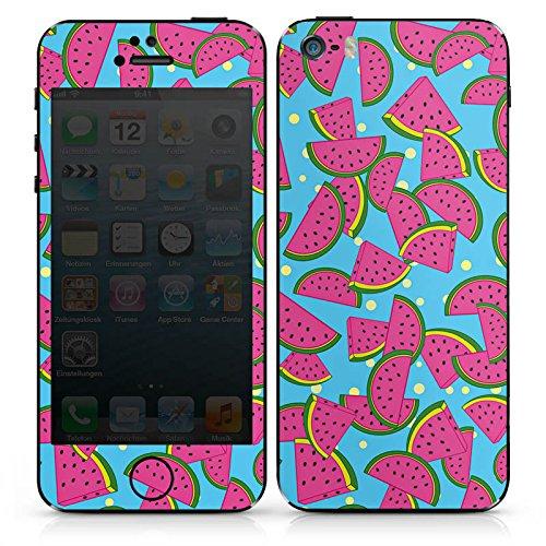 Apple iPhone 3Gs Case Skin Sticker aus Vinyl-Folie Aufkleber Wassermelonen Sommer Muster DesignSkins® glänzend