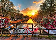 ie Bicycles in Amsterdam 1000 Piece Jigsaw Puzzle for Adults ? Every Piece is Unique, Softclick Technology Mea