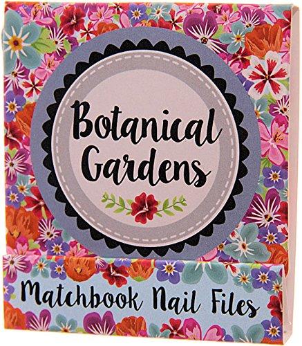 Ensemble de mini limes à ongles en forme de zündholzbriefchen : Fleurs Botanical Garden Rose ~ Idéal pour les Sac à main ou un petit Attention pour offrir