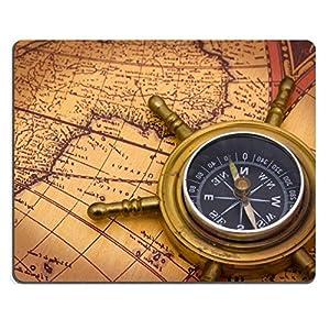 Luxlady alfombrilla para ratón una brújula en un viejo mapa del mundo imagen de fondo ID 6847754