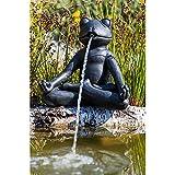 Heissner Teichfigur Speier Yoga-Frosch im Schneidersitz meditierend