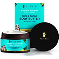 Pilgrim Shea & Cocoa Body Butter for Dry Itchy Skin, Stretch Marks, Deep Nourishment and Moisturising, Men and Women…