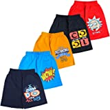 T2F Boys Cotton Shorts (Pack of 5)
