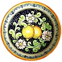 CERAMICHE D'ARTE PARRINI - Italian ceramics artistic, bowl decorated lemons, hand painted made in ITALY Tuscan