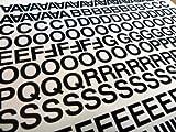 Minilabel Buchstaben- und Ziffern-Aufkleber, aus PVC, selbstklebend, zugeschnitten, wasserfest, je 12,7 mm, Schwarz, 356 Stück