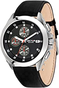 Sector No Limits Orologio da uomo, Collezione 720, con cronografo, in Acciaio, Pelle naturale - R3271687015