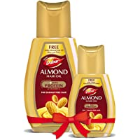 Dabur Almond Hair Oil - with Almond, Vitamin E and Soya Protein - 100 ml +50 ml free