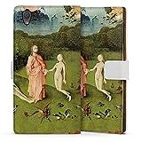 Sony Xperia L1 Tasche Leder Flip Case Hülle der Garten Eden Adam und Eva Kunst