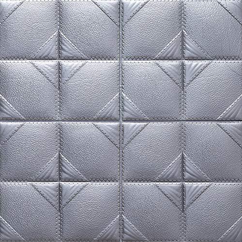 Adesivi murali stereo 3d carta da parati autoadesiva impermeabile anti-collisione carta da parati borsa morbida adesivi camera da letto dormitorio 60x60cm