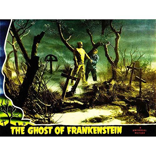 Wee Blue Coo LTD Movie Film Ghost Frankenstein Monster Horror Graveyard Cemetery USA Art Print Poster Wall Decor Kunstdruck Poster Wand-Dekor-12X16 Zoll -