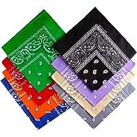 Ambielly bandane Classico Stampa Paisley bandane 100% cotone Avvolgere la testa Braccialetti sciarpe