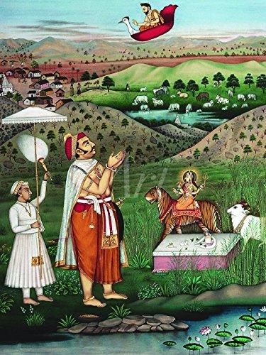 Artland Wandbild auf Alu-Verbundplatte Unbekannter Künstler Ein Edelmann von Udaipur, Indien Fantasy & Mythologie Religion Hinduismus Graphische Kunst Natur 40 x 30 x 1 cm C5KD