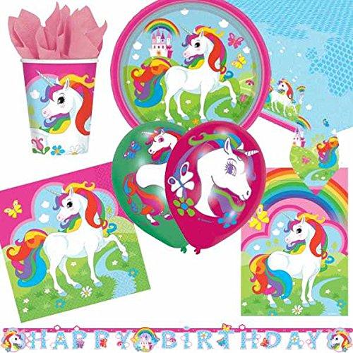 unicornio Ultimate Artículos para fiestas Kit para 8