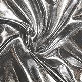 STOFFKONTOR Glanz Jersey Stoff Breite 150cm Silber