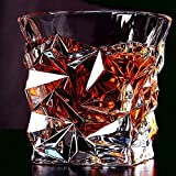 #5: Prime whisky Glasses set of 6 Pc ! Luxury Crystal Touch Cut Seamless Designer Whiskey Glass | Diamond Cut Design | whiskey Glass set of 6 pc | Perfect for Whisky |Scotch | Bourbon | Cognac | Tequila | Liquor | – 10oz | 300 ml