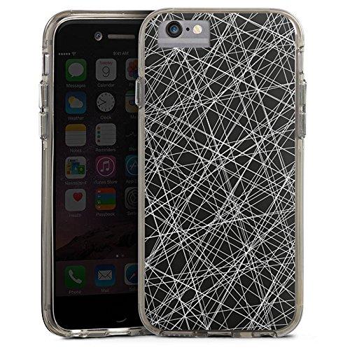 Apple iPhone 8 Bumper Hülle Bumper Case Glitzer Hülle Kratzer Scratches Linien Bumper Case transparent grau