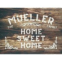 Home Sweet Home - Individualisierbare Schablone - personalisierbare Namensschild Schablone - Wunschname - Dekoschablonen - Wiederverwendbar