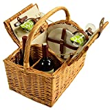 Best Picnic at Ascot Picnic Blankets - Picnic at Ascot Vineyard Willow Picnic Basket, Natural/Trellis Review