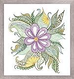 Riolis Lovely Flores Bordado, algodón, 30