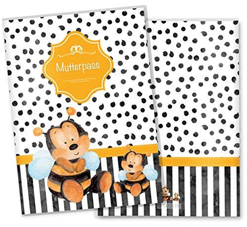 fetaldoppler Mutterpasshülle 3-teilig Creative Royal Schutzhülle tolle Geschenkidee(Mutterpasshülle ohne Personalisierung, Biene)